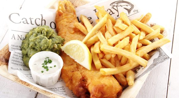 Traditional British fish and chips